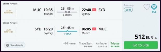Minhen >> Sydney >> Minhen