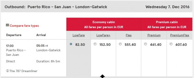 San Juan (Portoriko) >> London, Norwegian