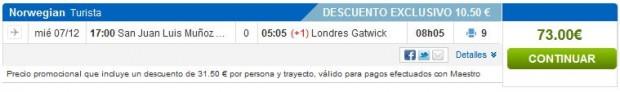San Juan (Portoriko) >> London, rumbo.es s Maestro karticom