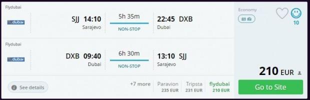 Sarajevo >> Dubai >> Sarajevo