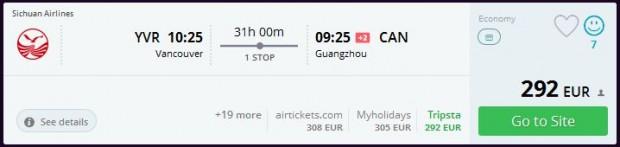 Vancouver >> Guangzhou
