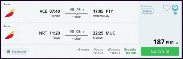 Venecija >> Panama City + Tokio >> Minhen