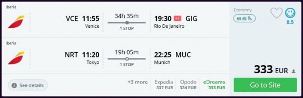 Venecija >> Rio de Janeiro + Tokio >> Minhen