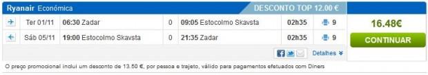 Zadar >> Štokholm >> Zadar, na rumbo.pt stranicama