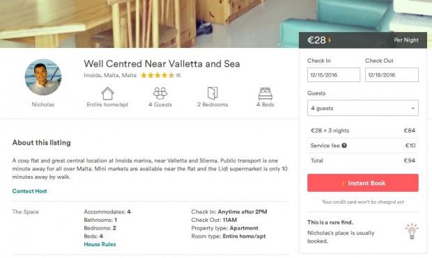 Airbnb privatni stan na Malti