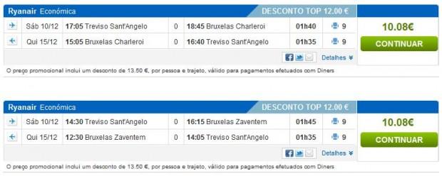 Venecija (Treviso) >> Brisel (Zaventem ili Charleroi) >> Venecija (Treviso), rumbo stranice