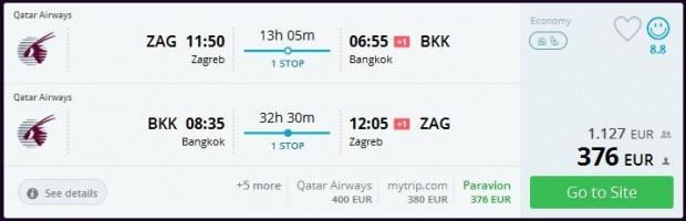 Zagreb >> Bangkok >> Zagreb