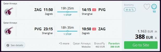 Zagreb >> Šangaj >> Zagreb