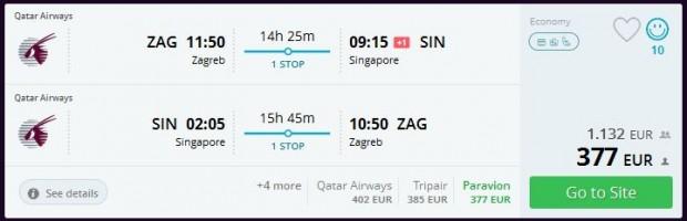 Zagreb >> Singapur >> Zagreb