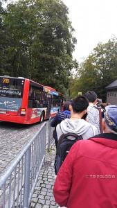 Čekanje u redu na bus 78 za Füssen