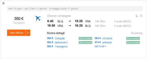 Bolonja >> Varadero >> Bolonja