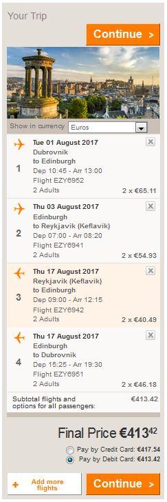 Dubrovnik >> Edinburgh >> Reykjavik >> Edinburgh >> Dubrovnik