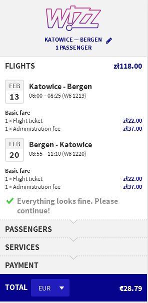 Katowice >> Bergen >> Katowice