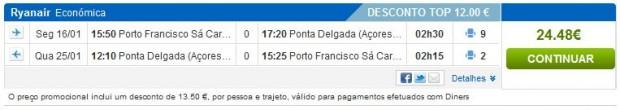 Porto >> Ponta Delgada >> Porto