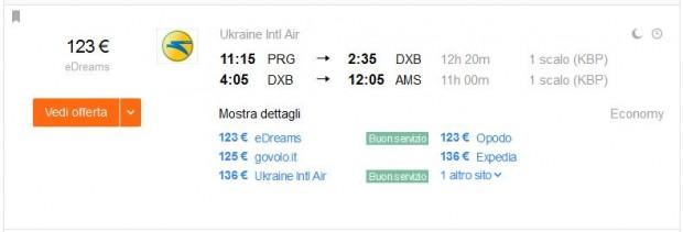 Prag >> Dubai >> Amsterdam