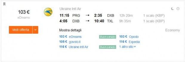 Prag >> Dubai >> Berlin