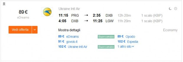 Prag >> Dubai >> London