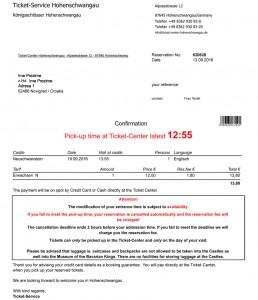 Online ulaznica za Neuschwanstein dvorac