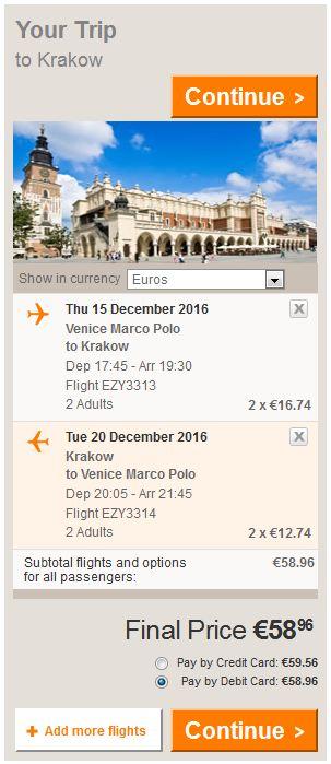 Venecija >> Krakov >> Venecija