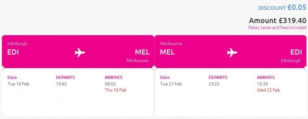 Edinburgh >> Melbourne >> Edinburgh