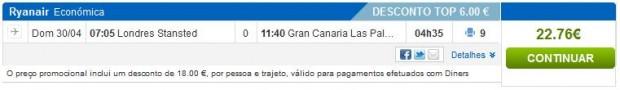 London >> Gran Canaria