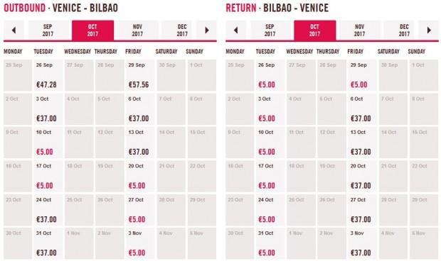Venecija >> Bilbao >> Venecija, cijeli mjesec