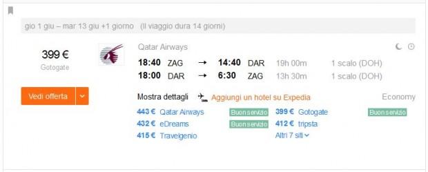 Zagreb >> Dar es Saalam >> Zagreb