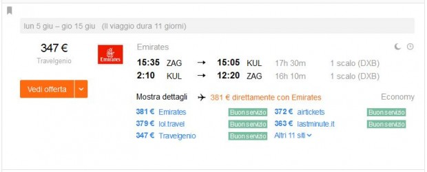 Zagreb >> Kuala Lumpur >> Zagreb