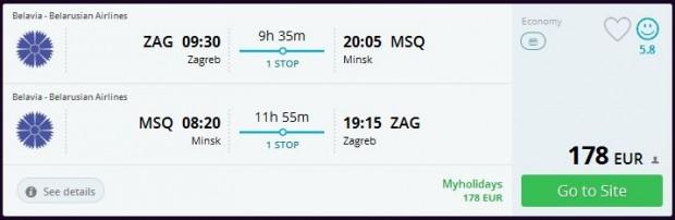 Zagreb >> Minsk >> Zagreb