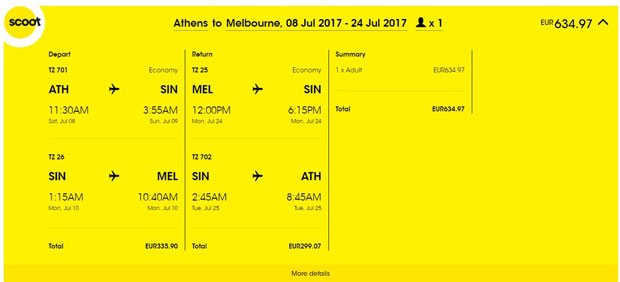 Atena >> Melbourne >> Atena