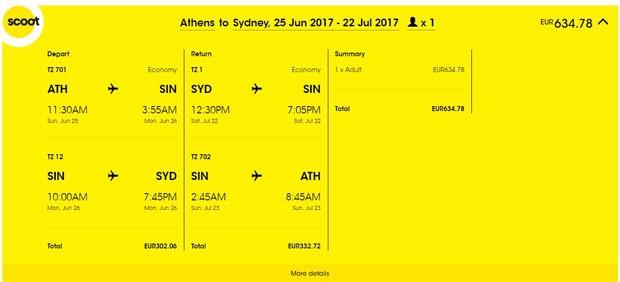 Atena >> Sydney >> Atena