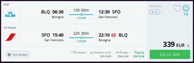 Bolonja >> San Francisco >> Bolonja