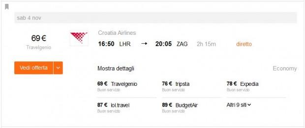 London >> Zagreb