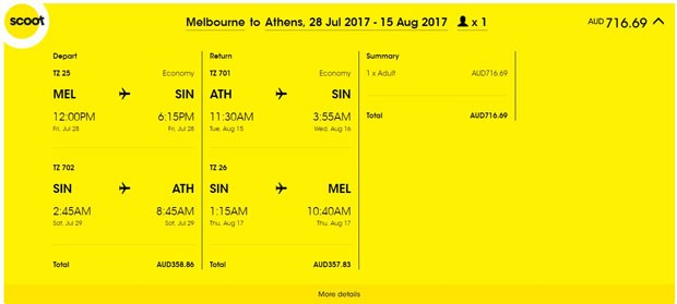 Melbourne >> Atena >> Melbourne