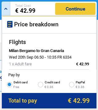 Milano (Bergamo) >> Gran Canaria
