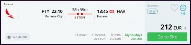 Panama City >> Havana
