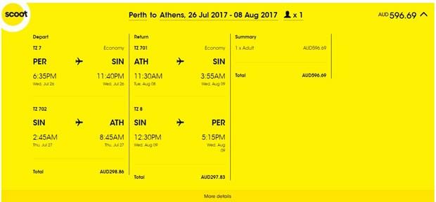 Perth >> Atena >> Perth