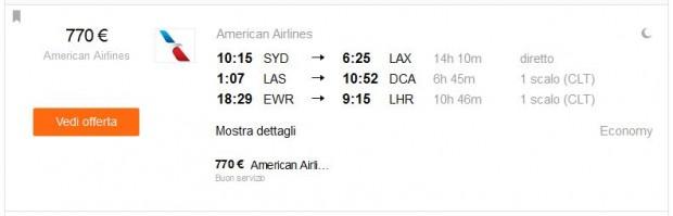 Sydney >> Los Angeles + Las Vegas >> Washington DC + New York >> London