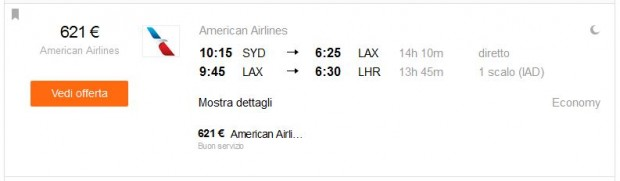 Sydney >> Los Angeles >> London
