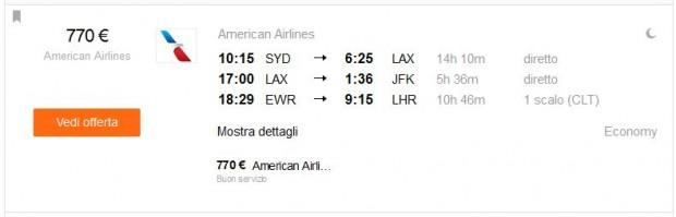 Sydney >> Los Angeles >> New York >> London