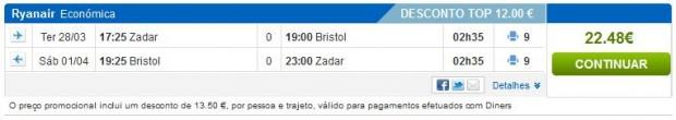 Zadar >> Bristol >> Zadar