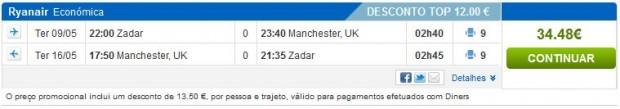 Zadar >> Manchester >> Zadar