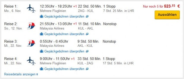 Zagreb >> Kuala Lumpur >> Auckland >> Zagreb