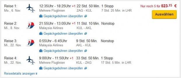 Zagreb >> Auckland >> Zagreb