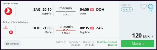 Zagreb >> Doha >> Zagreb