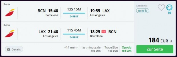 Barcelona >> Los Angeles >> Barcelona