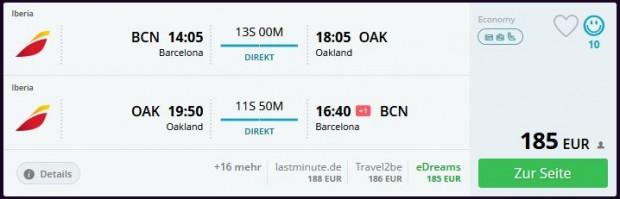 Barcelona >> Oakland >> Barcelona