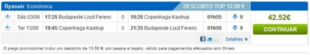 Budimpešta >> Kopenhagen >> Budimpešta