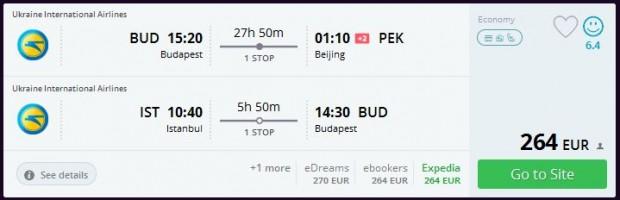 Budimpešta >> Peking + Istanbul >> Budimpešta