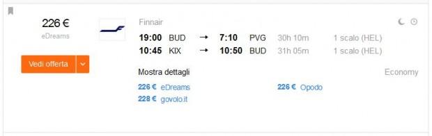 Budimpešta >> Shanghai + Osaka >> Budimpešta